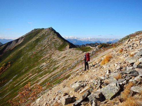 常念山脈の稜線