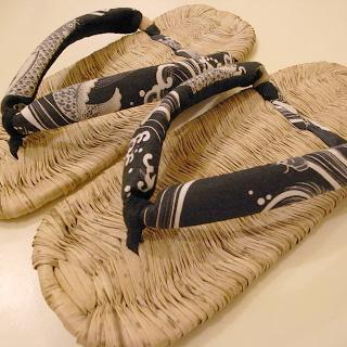 平井履物店の竹皮草履