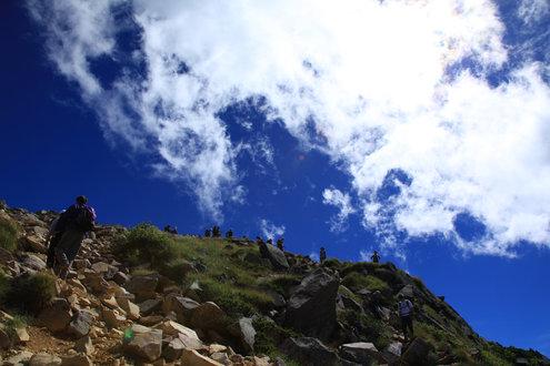天狗岳から下山