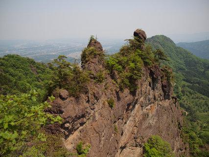 妙義山天狗のひょうてい岩から見る絶景