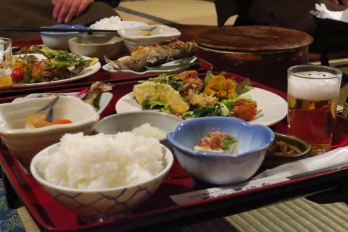 日光澤温泉の晩ごはん