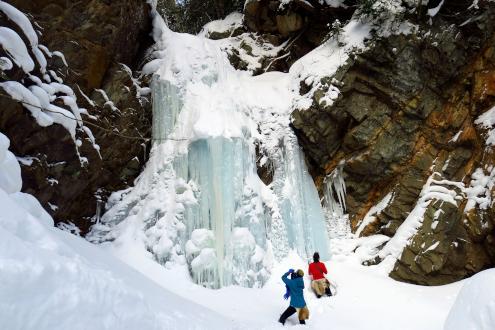 ノシ滝の氷瀑